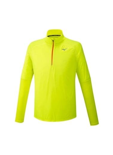 Mizuno Dry Aeroflow Ls Hz Erkek Sweat Sarı Sarı